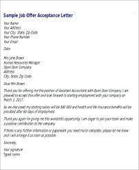 How To Write A Job Offer Acceptance Email Job Acceptance Sample Arianet Co
