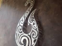 hei matau fish hook metal wall art tiki art protection tribal art  on tiki metal wall art with hei matau fish hook metal wall art tiki art protection tribal