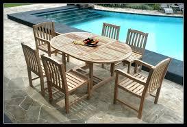 image of teak wood patio furniture seat of 6