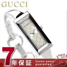 gucci clock lady s g frame silver gucci ya127511