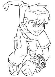 ben 10 coloring page 75 is a coloring page from ben 10 coloring book let your children express their imagination when they color the ben 10 coloring page