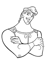 Hercules Smile Coloring Pages For Kids