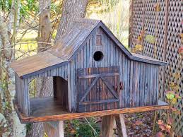 Rustic Birdhouses Country Farm Shed Birdhouse With Tin Roof Country Rustic