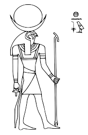 Printable Coloring Pages Egyptian Mythology Gods