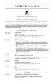It Executive Resume samples