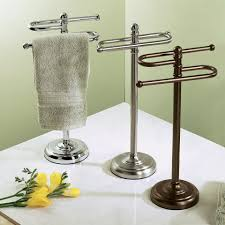 New Design Brushed Nickel Standing Towel Rack Gorgeous Dwba Free