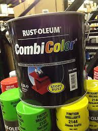 Rustoleum Combicolor Colour Chart 2 5lt Rustoleum Combicolor Direct Metal No Rust Paint Black