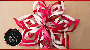 paper snowflakes 3d how to make 3d paper snowflake decorations out of paper diy
