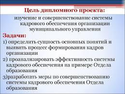 Цель дипломного проекта в каталоге Цель дипломного проекта