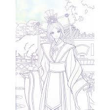 9787518021482 東洋のお姫様 古典的な王女 大人の塗り絵 美少女塗り絵