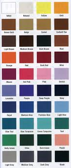 Ykk Color Chart Invisible Zippers Zippers For Sewing