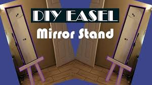 diy mirror easel stand easy to make mirror stand out of pallet wood easel home interior