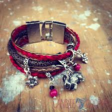 diy jewelry with leathercord usa multi strand leather bracelet idea with charms1