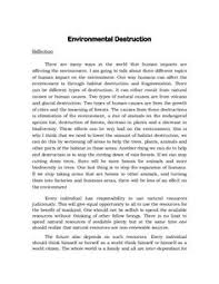 land pollution for humans and nature  essay on environmental reflection about environmental destruction