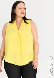 front pleat del cami yellow