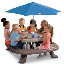 fold n picnic table with market umbrella