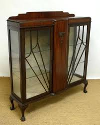 vintage art deco furniture. Art Deco Furniture Style Vintage A Walnut Double Display Case With