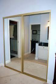 Closet ~ Mirrored Sliding Closet Doors Awesome Mirror Sliding ...