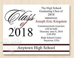 Details About 10 2019 High School College University Graduation Invitations Party Red Color