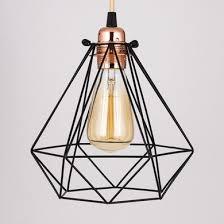 edison pendant lighting. Geometric Diamond Vintage Edison Light Bulb Cage For Pendant Lights Lighting U