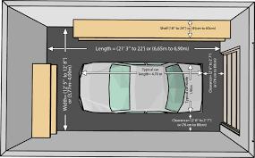garage size for one car one car garaze one car garaze merements