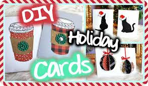 Diy Christmas Cards Diy Christmas Holiday Cards Easy Cute Youtube