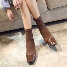 <b>NEW Shoes Women's Boots Pointed</b> Toe Yarn Elastic Ankle <b>Boots</b> ...