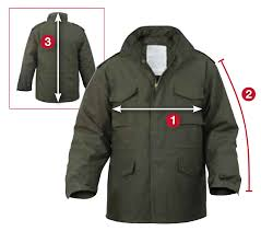 Rothco M 65 Jackets Size Chart