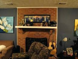 S Living Room With Brick Fireplace Paint Colors  Ideas