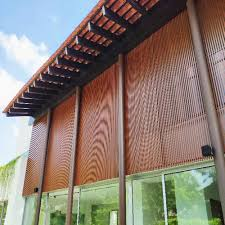 Trellis Modern Design Modern Design Aluminum Profile Wood Grain Trellis Screen Roof Panel For Villa View Roof Screen Panel Top Metal Product Details From Foshan Nanhai