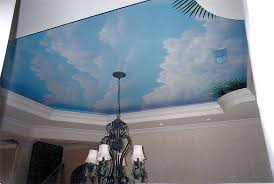 painted ceiling clouds in dining area of residence myrtle beach sc