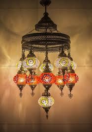 mosaic stone ball table lamp teal image 0