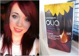 Demo Review Garnier Olia Hair Dye Intense Red Youtube