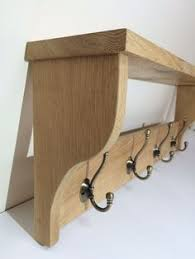 Oak Coat Racks Wooden Coat Rack Vintage Style Cast Iron Triple Hooks Solid Oak Wood 35