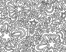 Small Picture Hearts adult printable coloring page