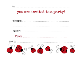 Photo Invitation Postcards Ladybirds Pack Of 6 Party Invitation Postcards