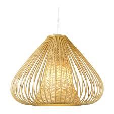 bamboo pendant lamp 30x40cm