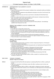 Management Analyst Resume Example Project Management Analyst Resume Samples Velvet Jobs 6