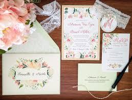 Diy Wedding Invitation Designs My Diy Story Peach Mint Floral Wedding Invitation Cards