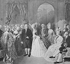 benjamin franklin american author scientist and statesman benjamin franklin at the court of 1778 engraving after a painting by hobens