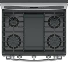gas range with griddle top. Wonderful With GE Profile PGB911SEJSS  Top View Featuring Griddle On Gas Range With