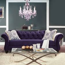 Purple Living Room Chairs Formal Living Room Furniture With Wall Lights And Flower Vase Also