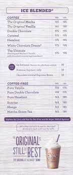There's something for everyone at the coffee bean & tea leaf. Cakes Menu Please
