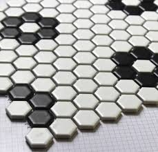 Mosaic Tile Kitchen Floor Aliexpresscom Buy Classic White Mixed Black Hexagon Flower
