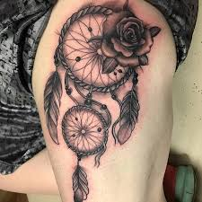 Pics Of Dream Catchers Tattoos 100 Dreamcatcher Tattoo Designs For Good Dreams TattooBloq 59