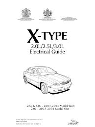x type 2003 2004 elec guide