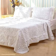 white coverlet king quality white coverlet set cotton quilt embroidery quilted bedspread bed cover bed white