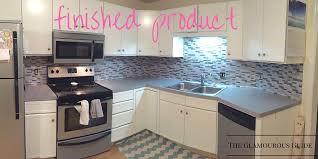 diy kitchen backsplash with sticky tiles