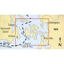 Nautical Charts San Juan Islands Wa Maptech Folding Waterproof Chart The San Juan Islands