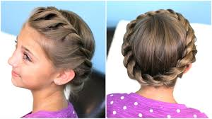 Plaits Hairstyle how to create a crown twist braid updo hairstyles youtube 8560 by stevesalt.us